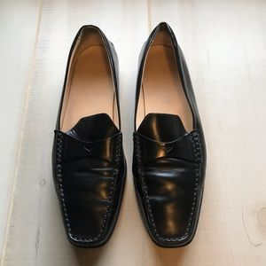 SOLD|Tod's Black Leather Driving Mocs Loafers 39